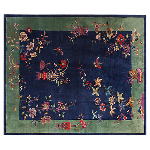 Chinese Art Deco Rug, 8' x 9'8""
