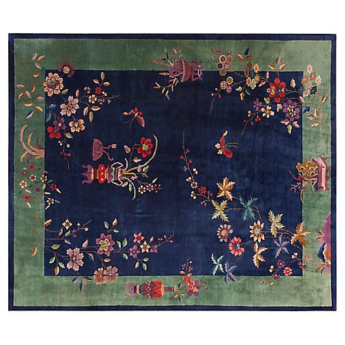 "Chinese Art Deco Rug, 8' x 9'8"""