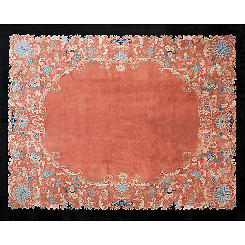 "Chinese Art Deco Rug, 9'4"" x 11'8"""