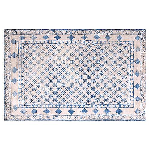 "Cotton Agra Rug, 4'4"" x 7'"