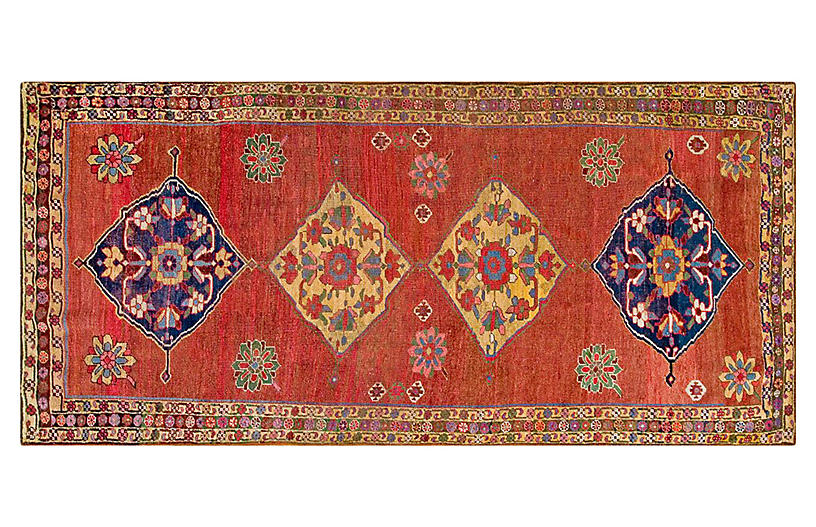 Antique Bijar Rug, 4'5