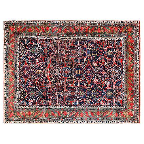 """Antique Bijar Carpet, 14'9"""" x 19'8"""""""