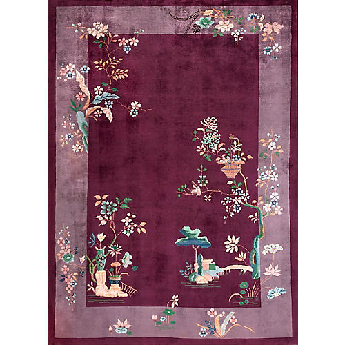 "Chinese Art Deco Rug, 8' x 10'10"""