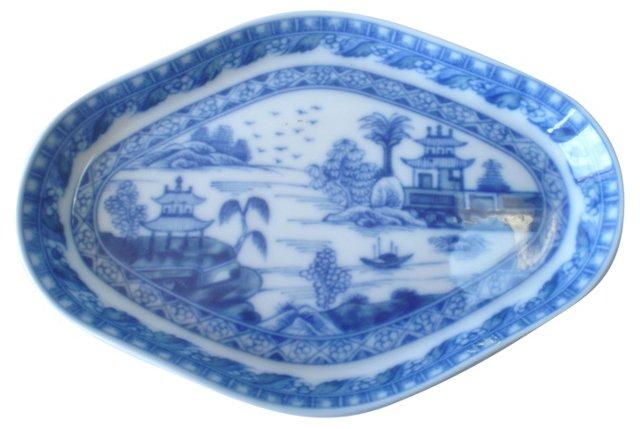 Asian Blue & White Tray