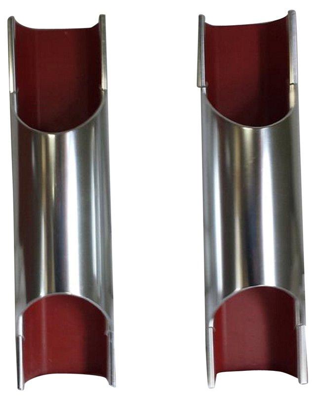 Aluminum Modern Sconces, Pair