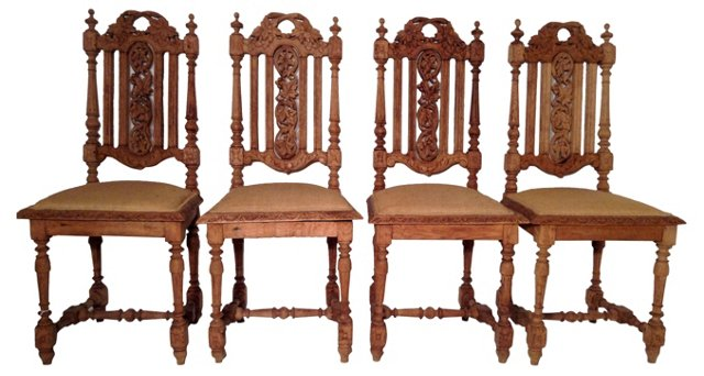 European Dining Chairs,  S/4