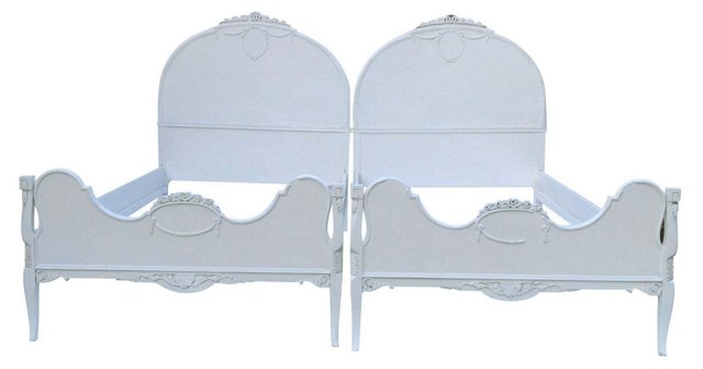 French-Syle Twin Beds, Pair