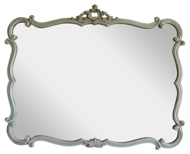 French-Style Painted Mirror