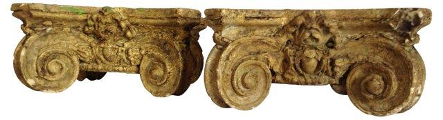 Antique Capitals, Pair
