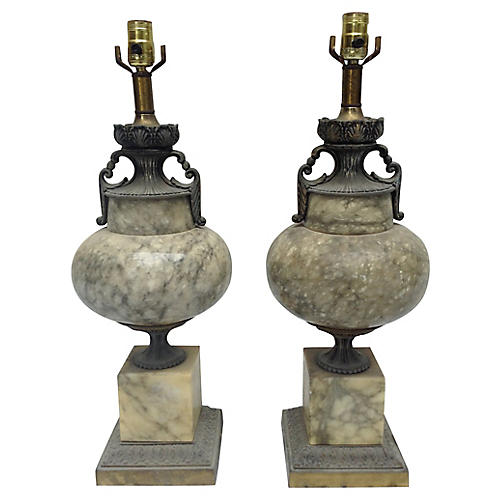 Marble Lamps/Pair