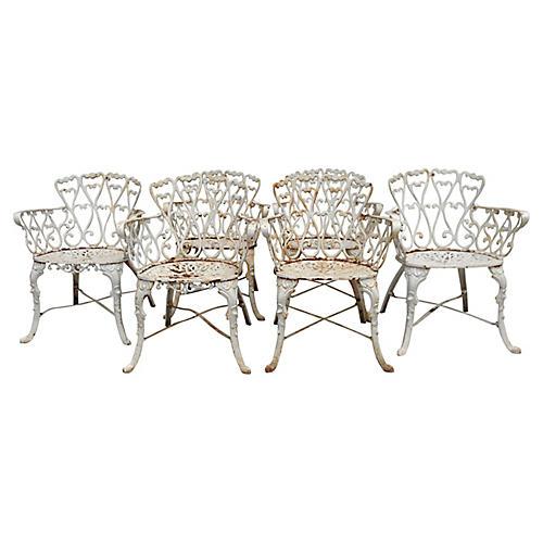 Iron Armchairs, S/6