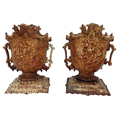 Antique Urns, Pair