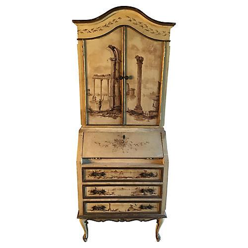 Antique Hand-Painted Secretary
