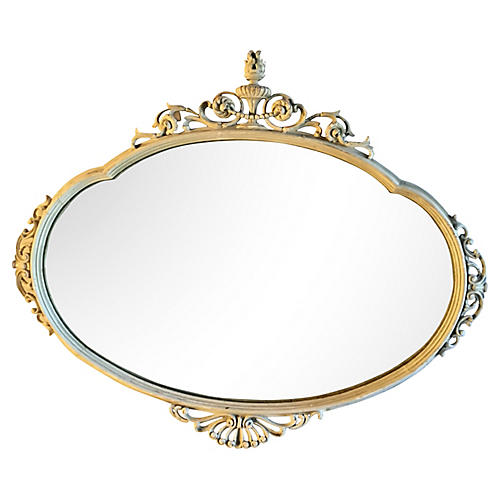 French Mirror w/ Torch Crown