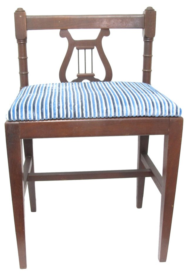 Lyre-Back Accent Chair