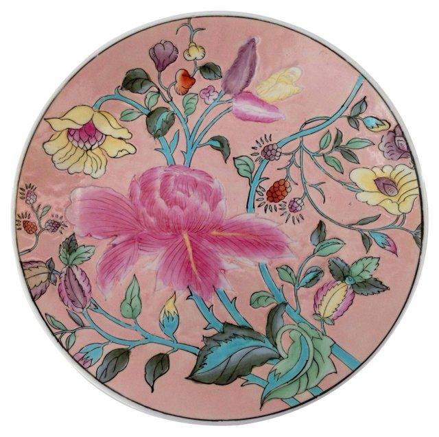 Porcelain Peony Wall Plate