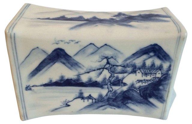 White & Blue Chinoiserie Incense Burner