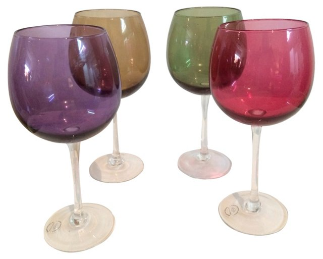 Colored Goblets, S/4
