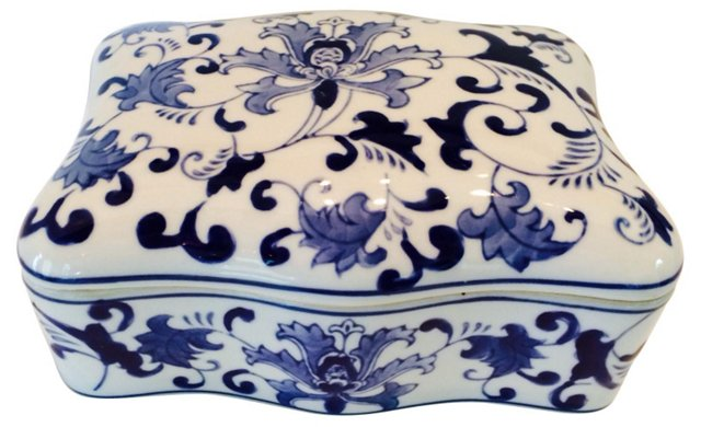 Blue & White Chinese Box