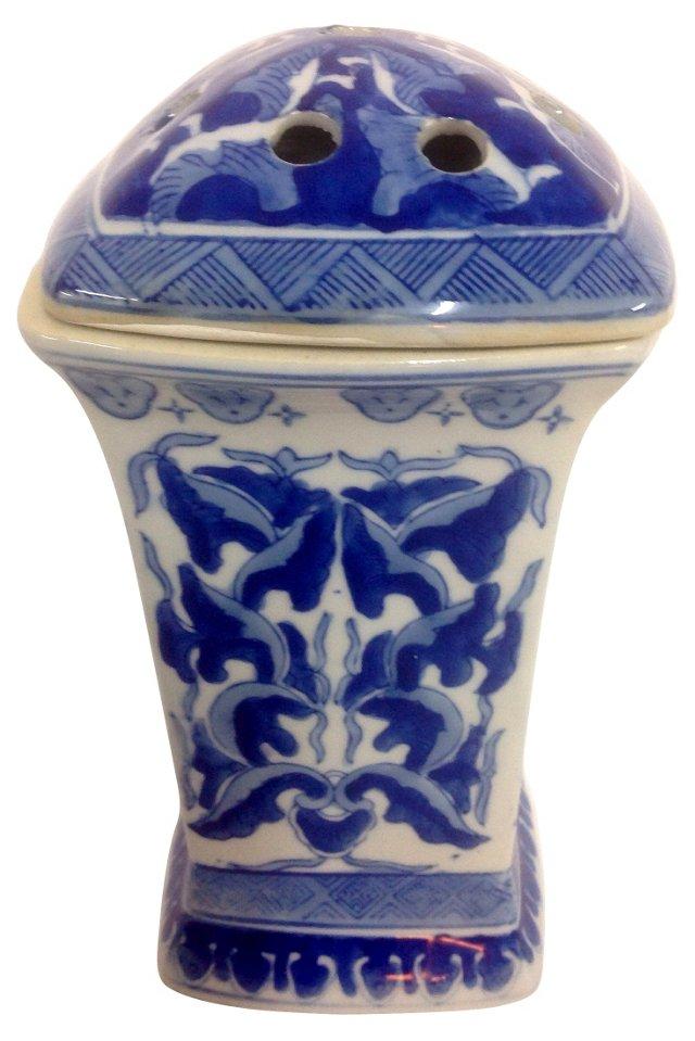 Blue & White Pierced Lid Vase
