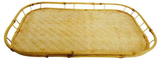 Bamboo & Raffia   Tray