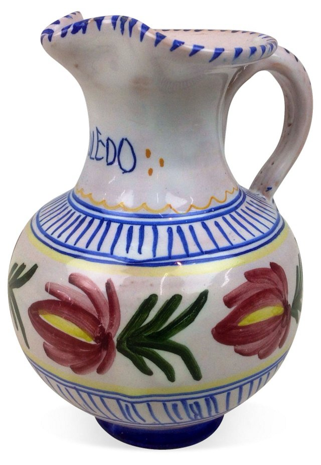 Spanish Hand-Painted Pitcher