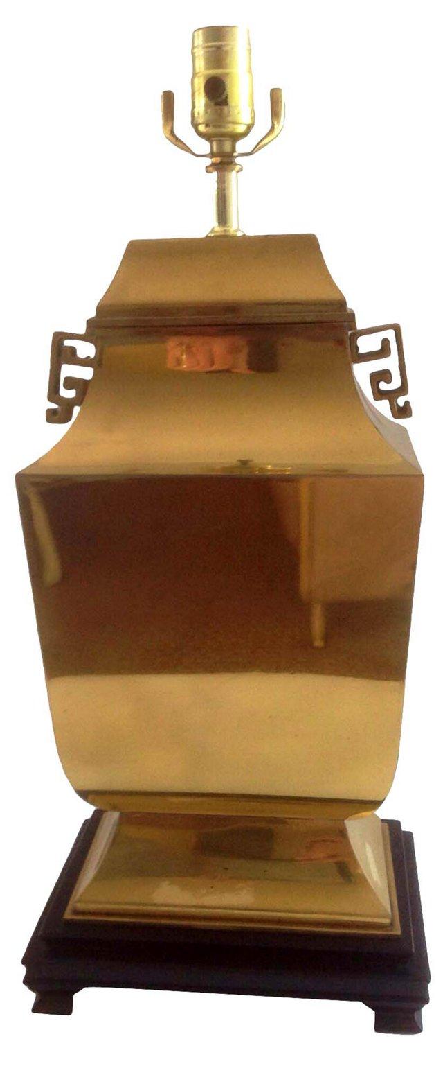 Chinoiserie Brass Urn Lamp