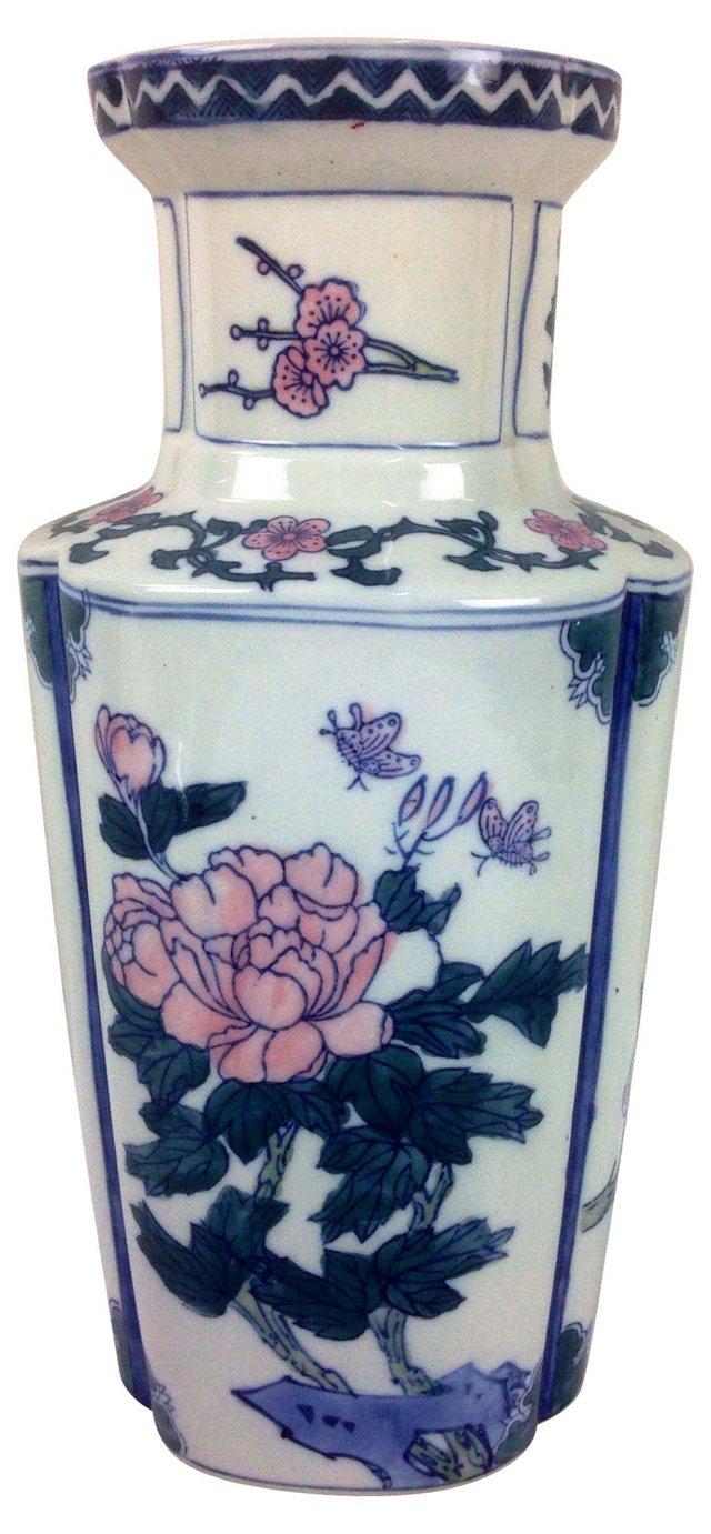 Floral Pastel Chinoiserie Jar
