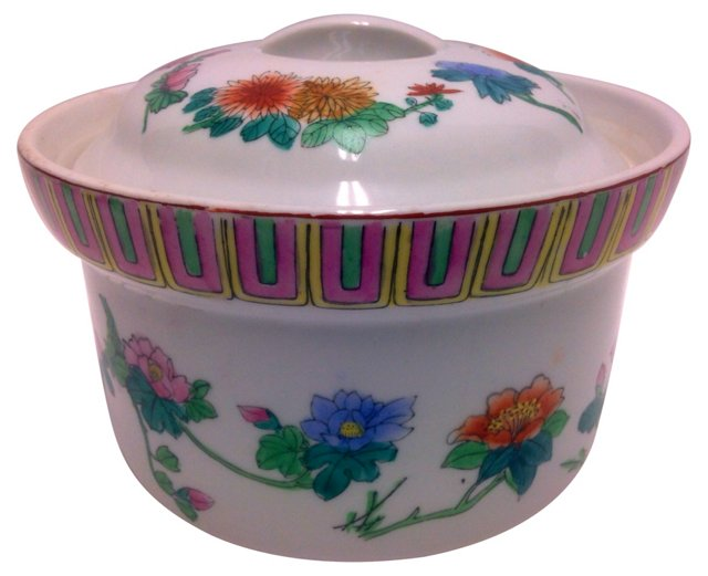 Chinese Lidded Vegetable Bowl