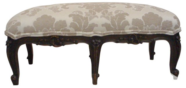 French  Louis XV-Style Bench