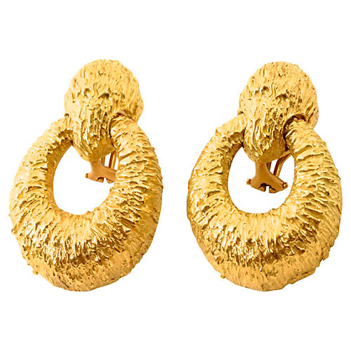 18K Gold Clip Back Earrings