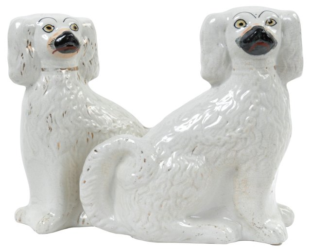 Antique Staffordshire Dogs, Pair