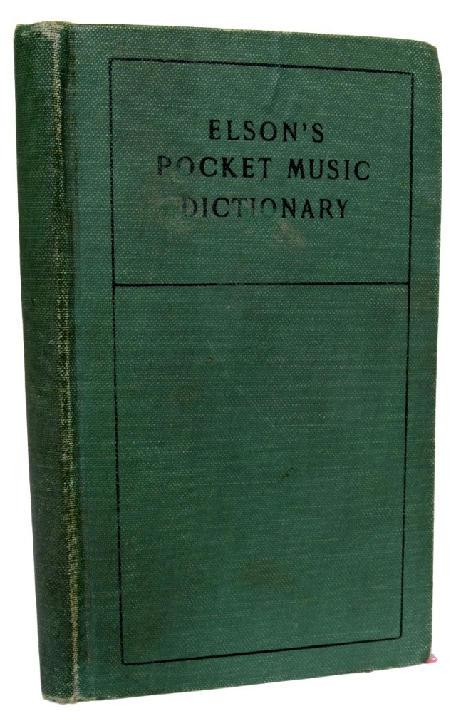 Elson's Pocket Music Dictionary, 1st Ed