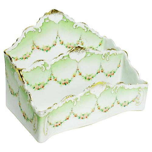 Porcelain Letter Holder