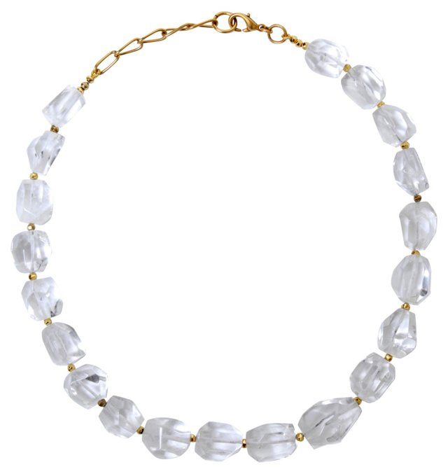 Crystal Necklace w/ Gold-Plated Clasp
