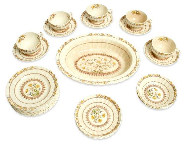 Assorted Spode Buttercup Set, 24 Pcs