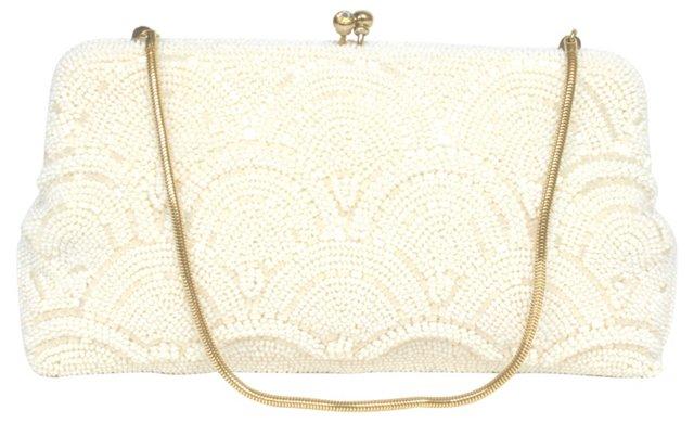 White Beaded Handbag