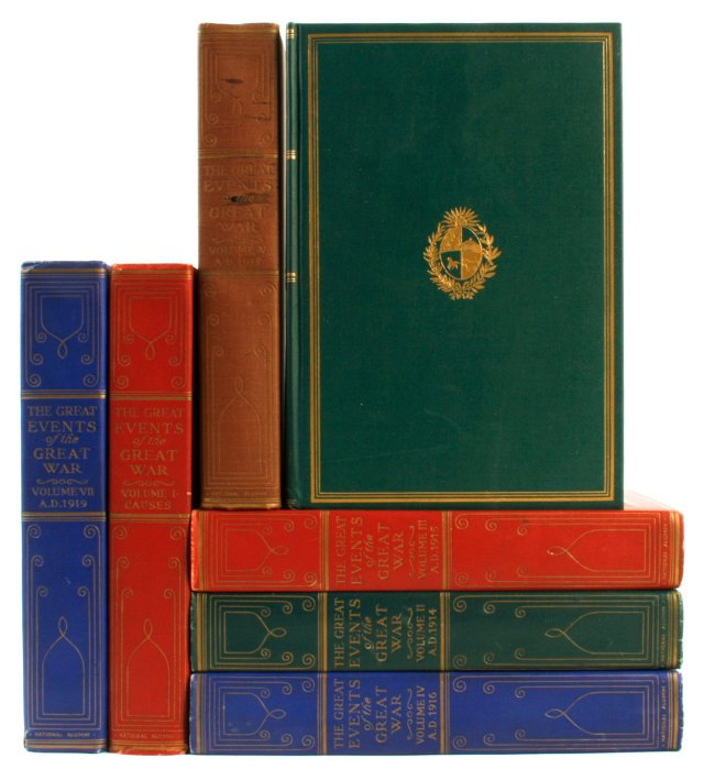 Events of the Great War, 1st Ed, 7 Vols