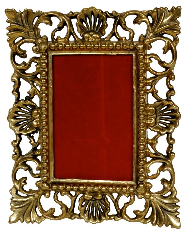 Brass Open-Work Picture Frame