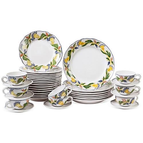 Pottery Dinnerware, 30 Pieces