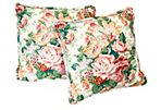Floral Chintz Throw Pillows, Set of 2