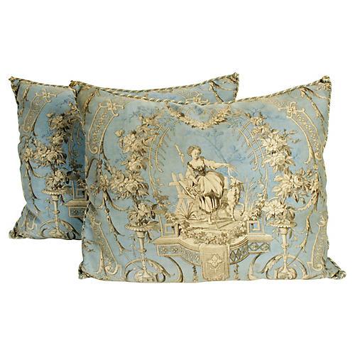 Pair of Toile de Jouy Pillows