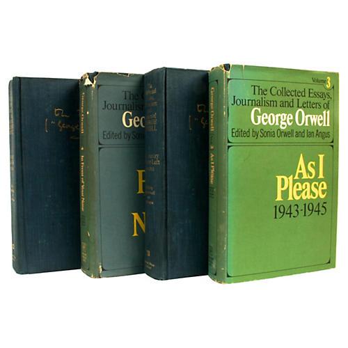 4-Vol George Orwell Essays, 1st Ed