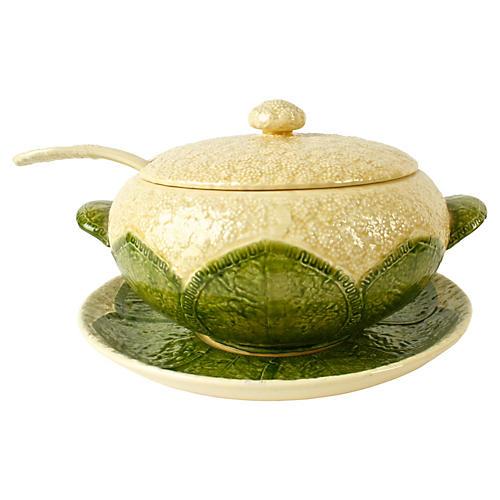 Cauliflower Soup Tureen w/ Ladle