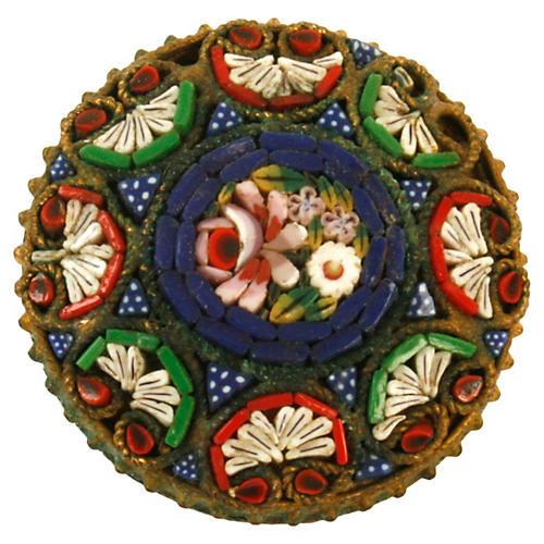 Venetian Micro Mosaic Pin