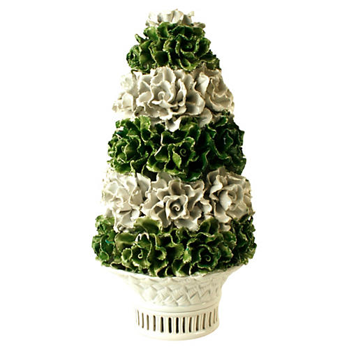 Tiered Ceramic Tree in Basket