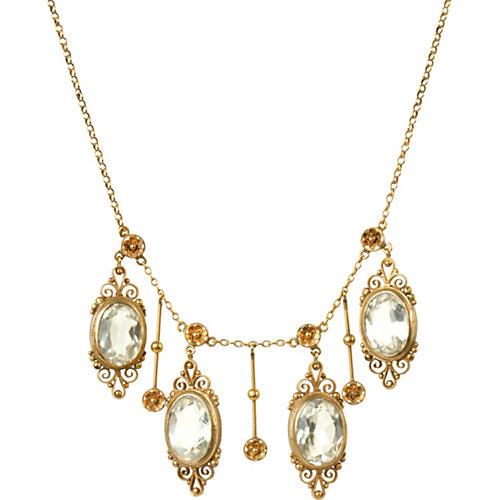 Art Nouveau Style Vermeil Necklace