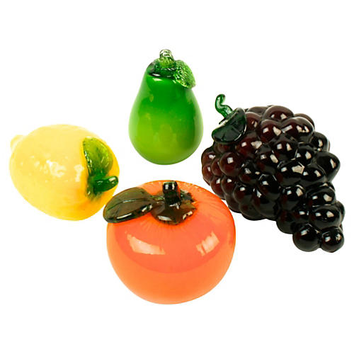 Glass Fruit, Set of Four