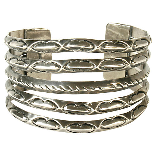 Native American-Style Sterling Cuff