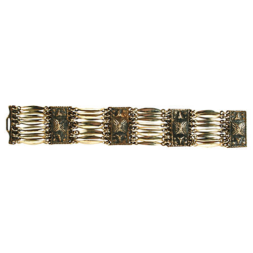 Mexican Silver Linked Bracelet